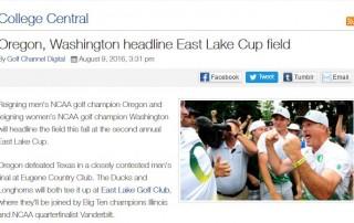 East Lake Cup Teams Announced 2016